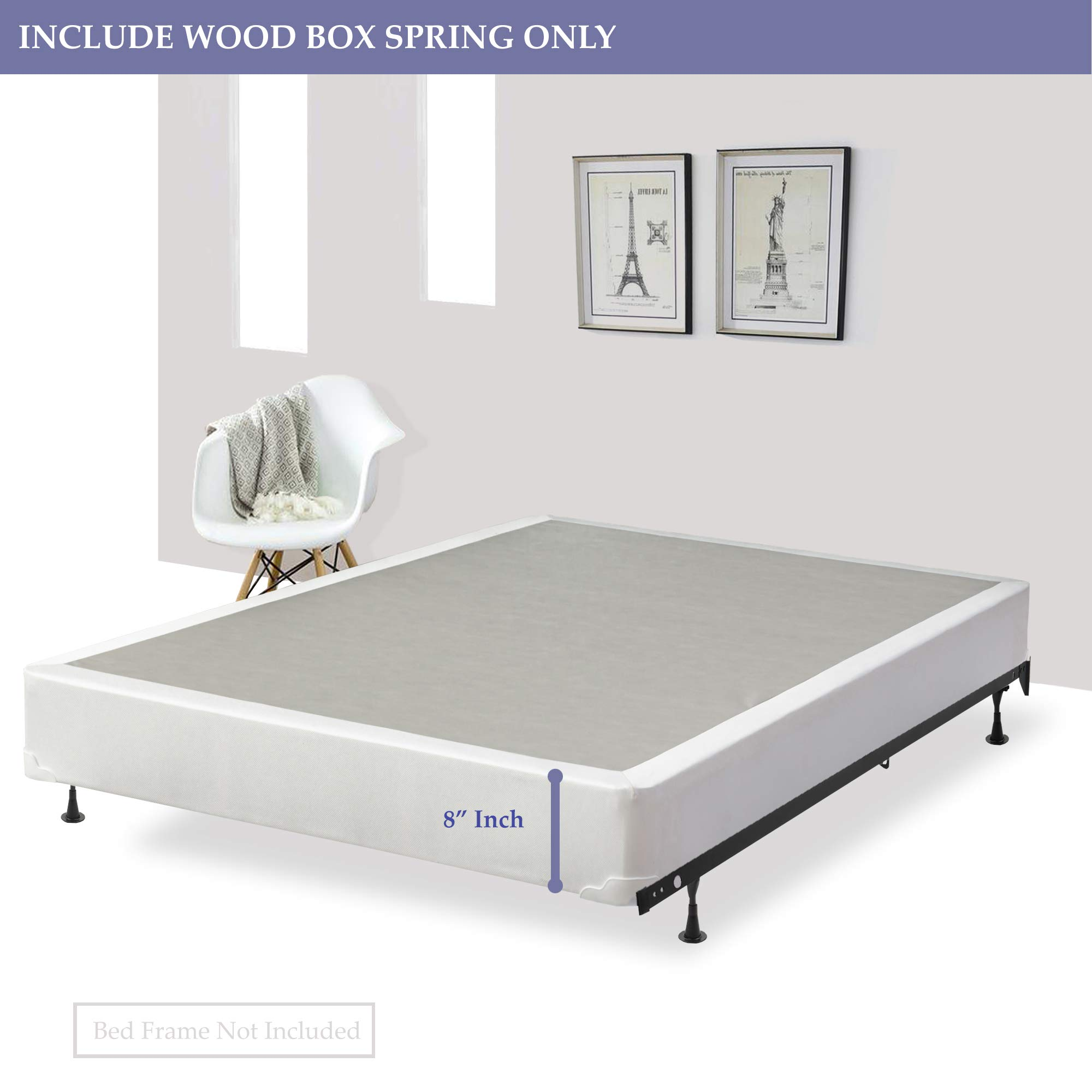 Spring Sleep 8'' Twin Size Assembled Box Spring for Mattress, Splendorcollection by Spring Sleep