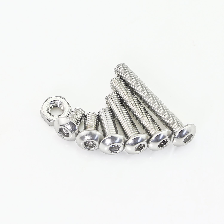 Sutemribor 320Pcs M3 Stainless Steel Button Head Hex Socket Head Cap Bolts Screws Nuts Assortment Kit Wrench
