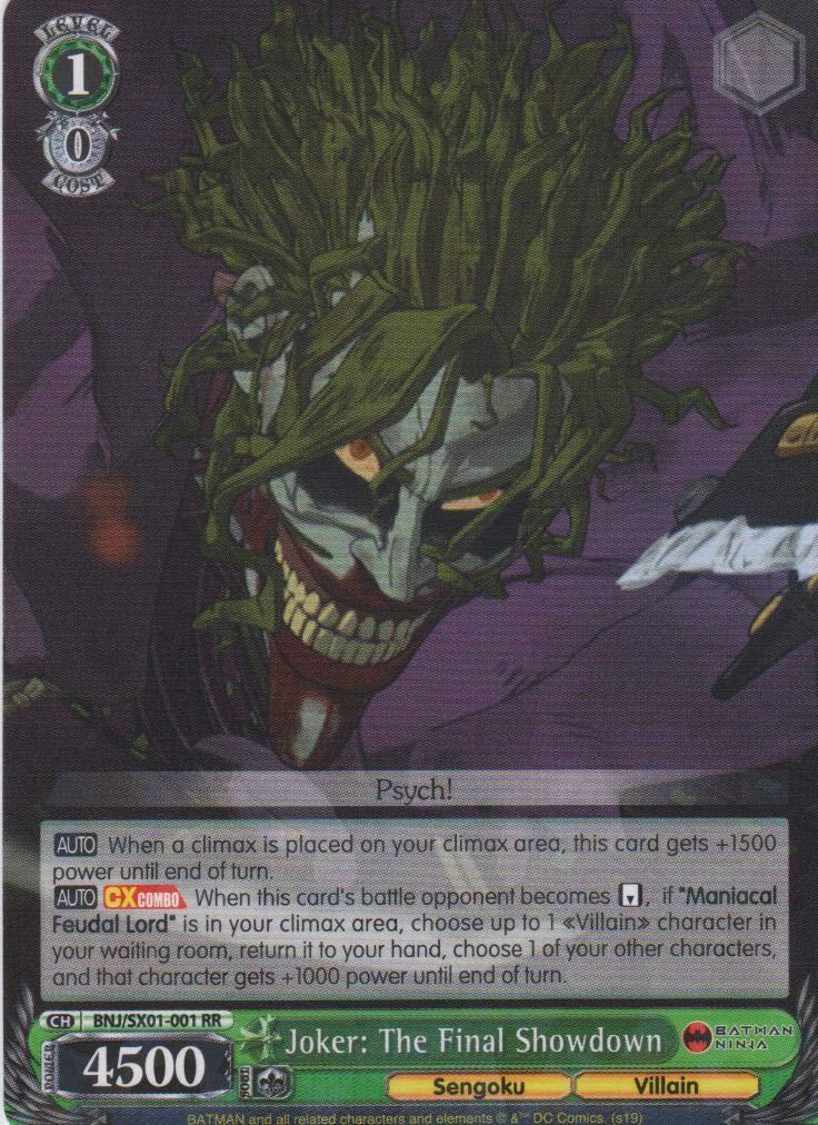 Amazon.com: Weiss Schwarz - Joker: The Fianl Showdown - BNJ ...