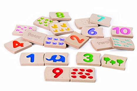 Amazon.com: Plan Toys Numbers 1-10 Tiles: Toys & Games