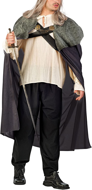 Game of Thrones Capa con ribete de piel Disfraz Accesorio Hombre ...