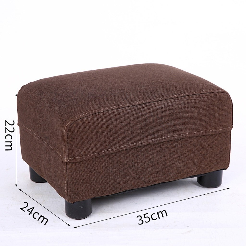 BROWN Stools Replace shoes Bench Solid Wood Home Living Room Sofa Footstool Bedroom Bedside Stools (Rectangle) (color   Purple)