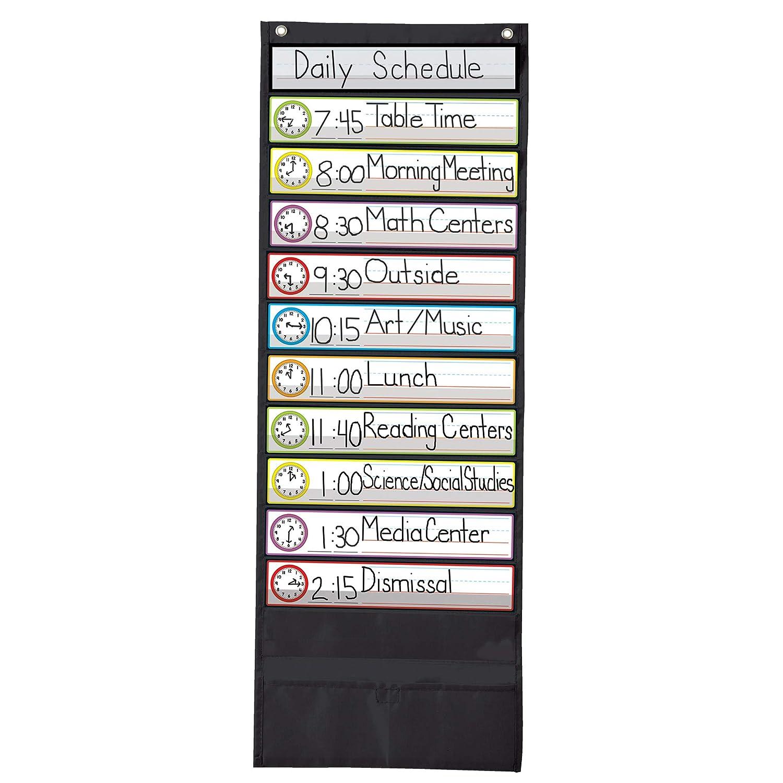 Deluxe Scheduling Black Pocket Chart Carson Dellosa Pub Co Inc 158572 Non-Classifiable Novelty