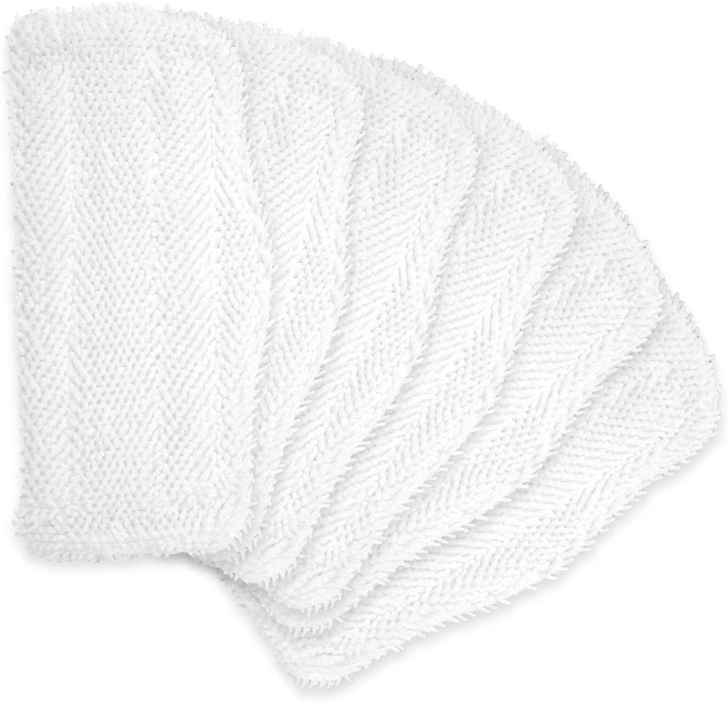 FFsign 6 Pack Replacement Washable Cleaning Pads for Shark Steam & Spray Mop SK410, SK460, SK115, SK140, SK141, SK435CO, S3101, S3102, S3250, S3251, 6 Pcs Washable Microfiber Cleaning Steamer Pads