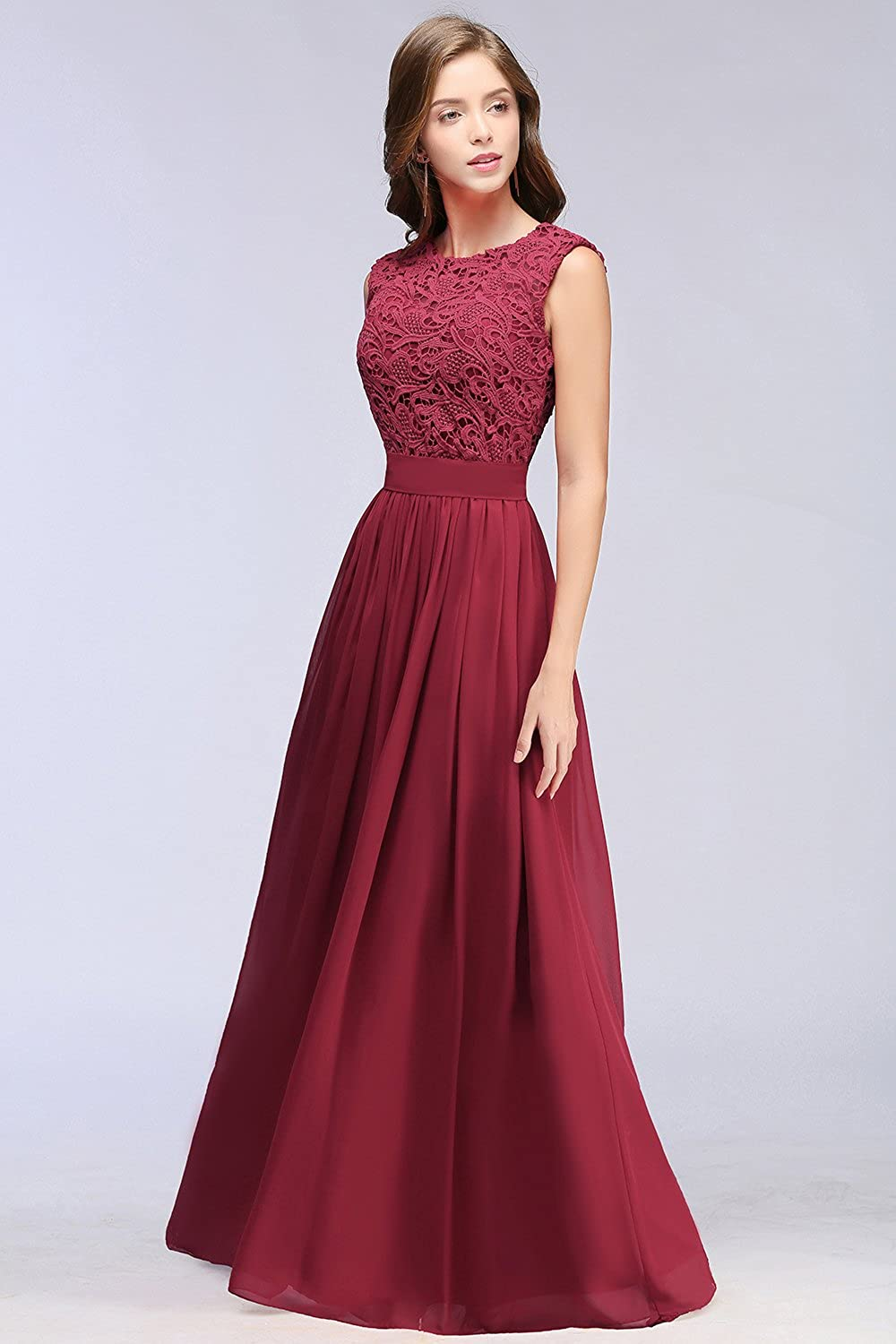 9dd1392034 MisShow Lace Chiffon Bridesmaid Dresses Long Prom Evening Gowns for Womem  at Amazon Women s Clothing store
