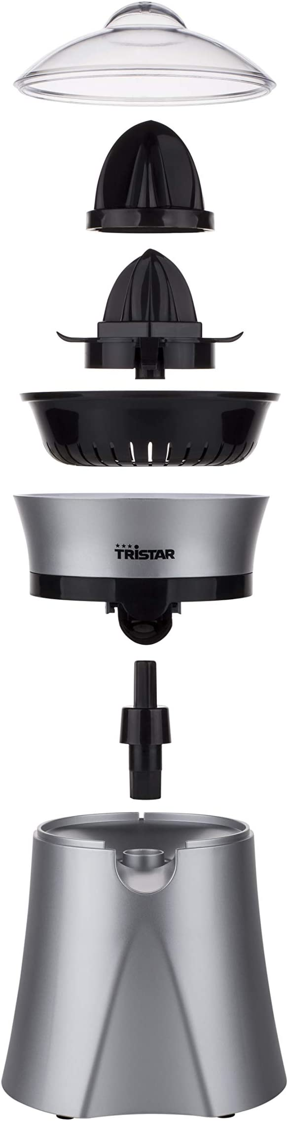 Exprimidor Tristar CP-2262 – Tapa transparente incluida – Dos conos de prensado: Amazon.es: Hogar