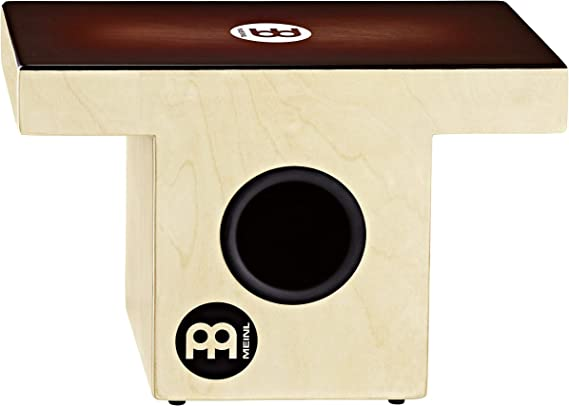 Meinl Percussion Slaptop Cajon Box Drum with Internal Snares and Forward Projecting Sound Ports - NOT MADE IN CHINA - Espresso Burst Playing Surface