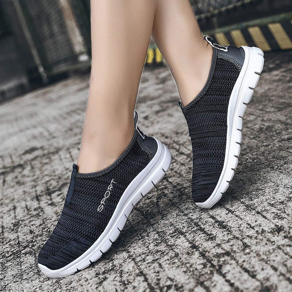Chaussures De Course D/éContract/éEs Respirantes Paresseux /à La Mode en Mesh