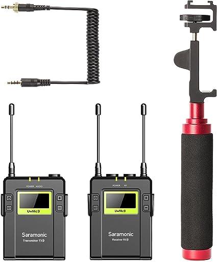 Movo Smartphone Kit de vídeo con sistema de micrófono inalámbrico ...