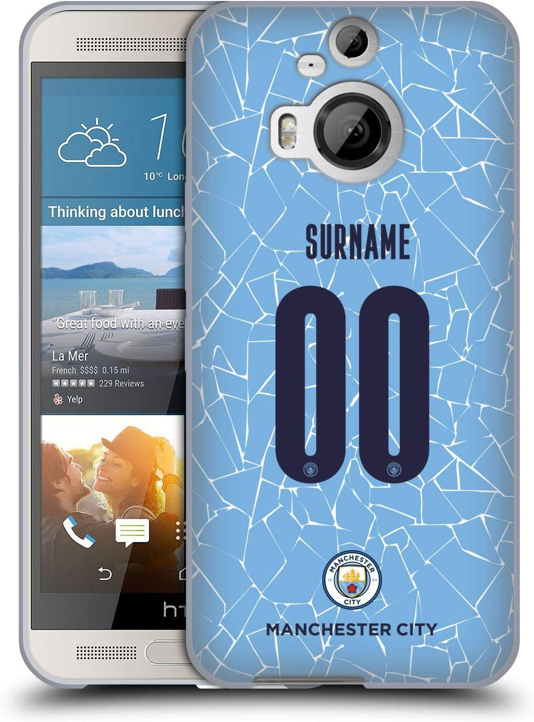 Head Case Designs Officially Licensed Custom Customized Personalized Manchester City Man City FC Home 2020/21 Badge Kit Soft Gel Case Compatible with HTC One M9+