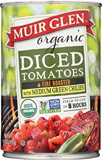 product image for (NOT A CASE) Organic Diced Tomatoes Fire Roasted With Medium Green Chilies