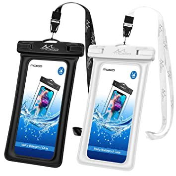 MoKo Flotante Funda Universal para Móvil hasta 6.2 Pulgada con Correa, Bolsa Impermeable para iPhone XS/XS MAX/XR, Galaxy Note 8 / S9+ / S9 /S8+ S10 ...