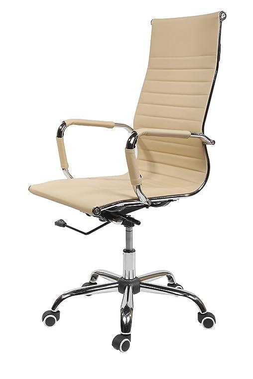 Design bürostuhl  Design Bürostuhl Chrom Rahmen Elegance Chefsessel Drehstuhl ...