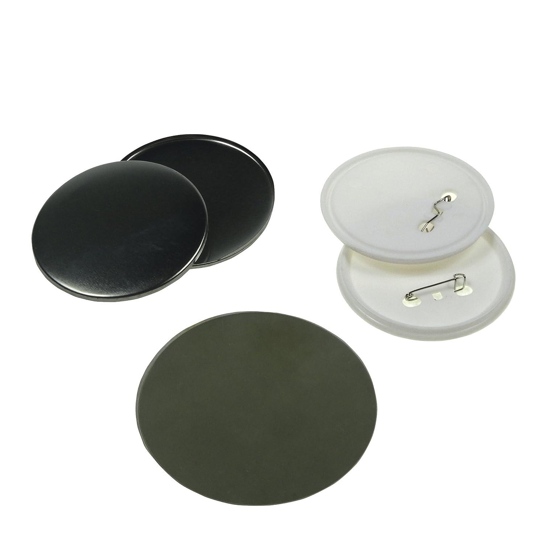 Sol 75 mm Chapas de en blanco y botones de repuesto para ...