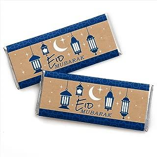 product image for Ramadan - Candy Bar Wrapper Eid Mubarak Favors - Set of 24