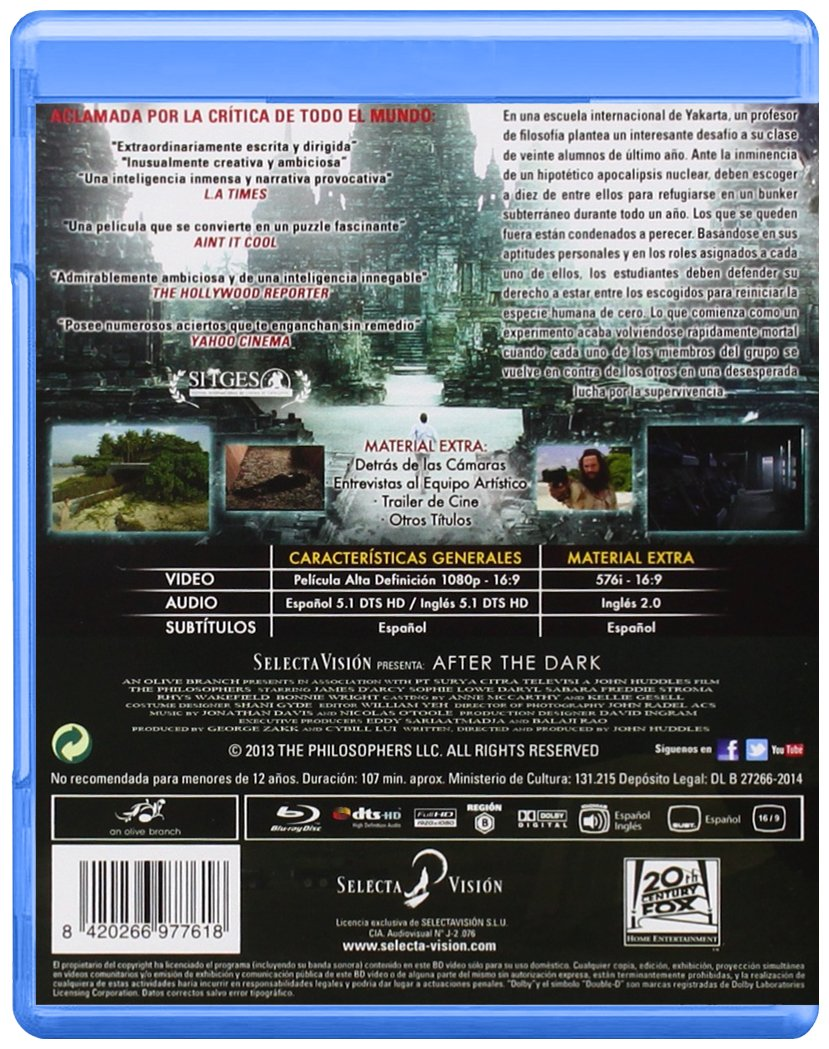 Amazon.com: AFTER THE DARK - Spanish import - Blu-Ray / DVD combo - Region 2 - Region B - PAL format: Movies & TV