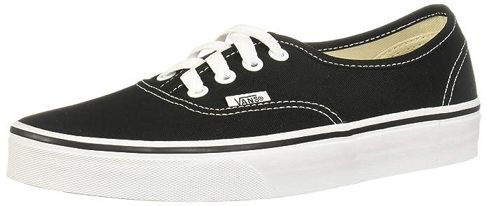 Vans Unisex-Erwachsene Authentic Sneakers Schwarz/Weiß Größe EU 39