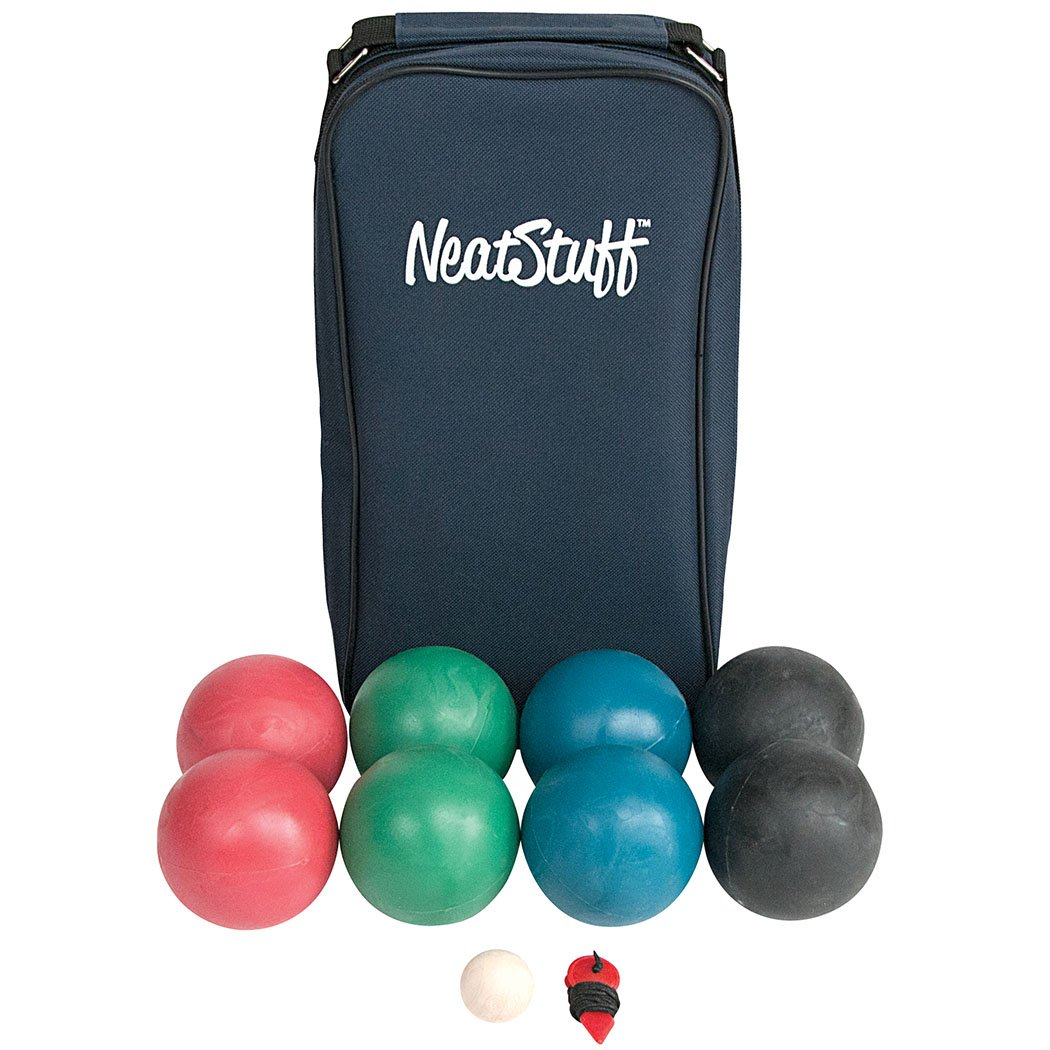 Neat Stuff Bocce Ball Set with Carrying Case – Up to 8 Players by Neat Stuff