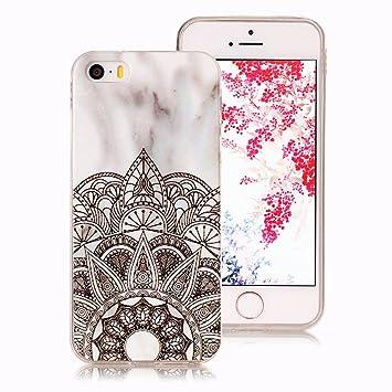 Funda Mármol para iPhone SE, iPhone 5S Case, Ronger Carcasa Gel TPU Silicona Marble Case Cover Funda Ultra Flexible para Funda iPhone 5 /iPhone 5S ...