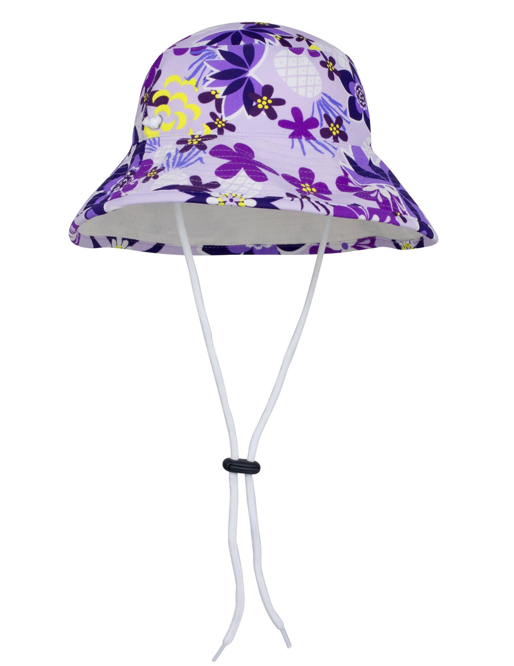Tuga Girls Reversible Bucket Sun Hat (UPF 50+), Agata, Large