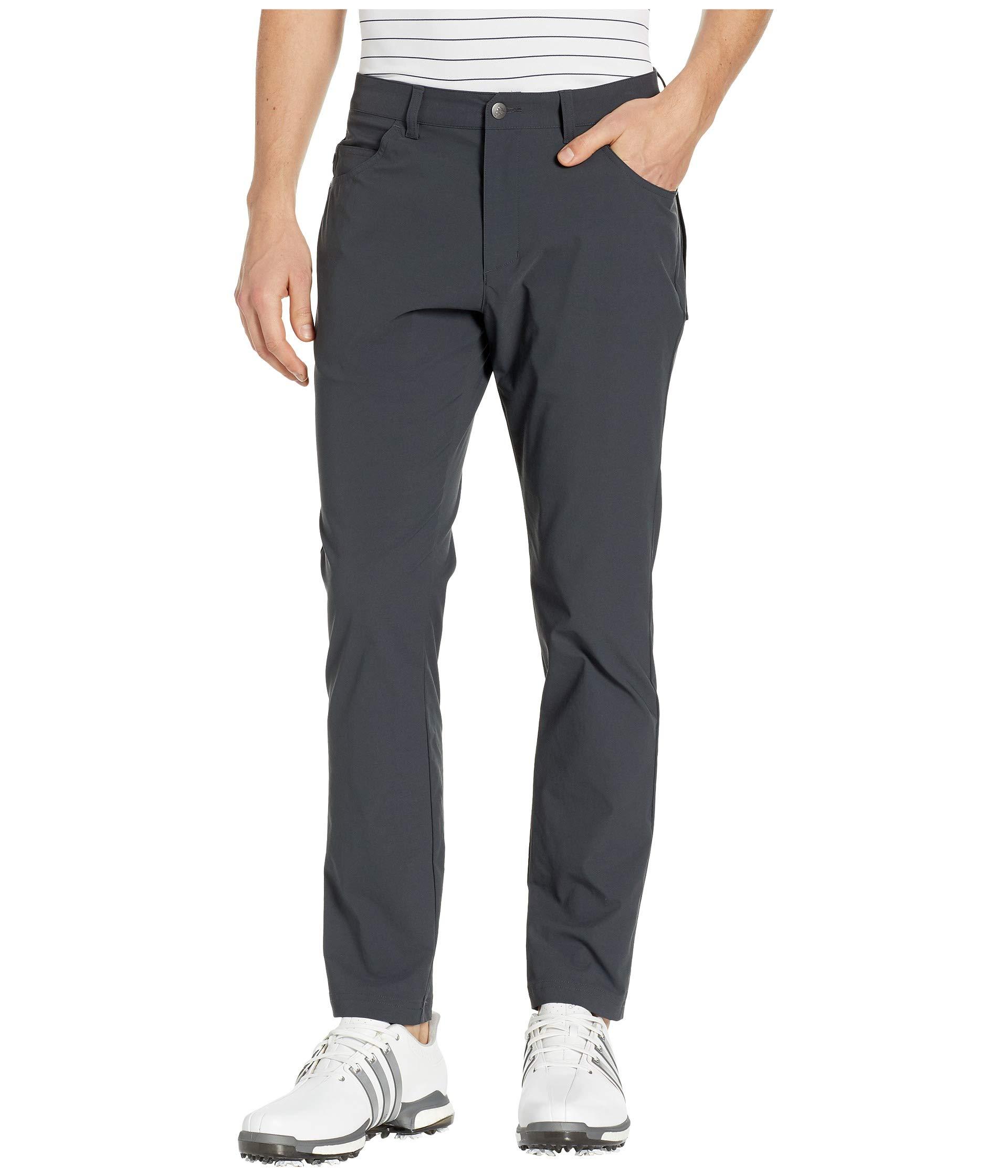 adidas Golf Adicross Beyond 18 Slim 5-Pocket Pant, Carbon, 3030