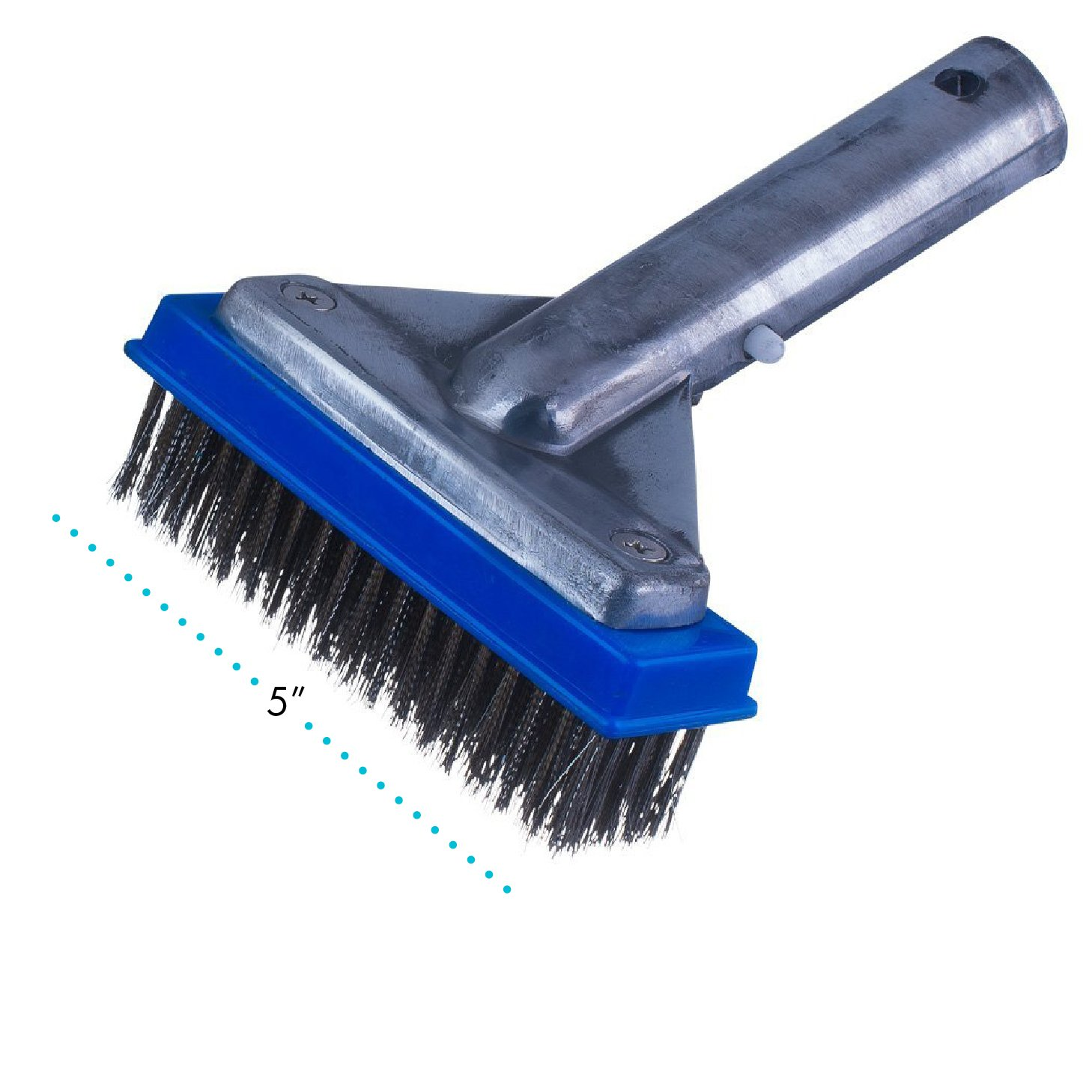 Milliard 5'' Heavy Duty Wire Pool Algae Brush, Designed for Concrete and Gunite Pools Great on Extremely Tough Stains