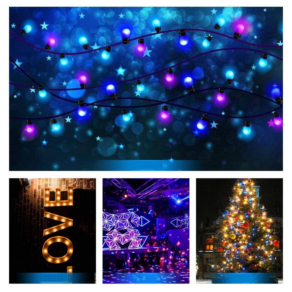 Orange Colored Bulbs LED 2W E27 G45 Lighting Bulb for Party Lighting,Outdoor Patio Party Christmas,LED Coloured GolfBall Bulb