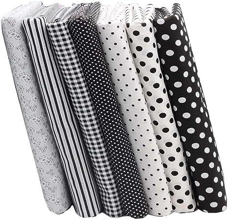 Limitada telas fieltro – Juego de 100% algodón tela blanco negro lunares/tira de acolchado para manualidades Patchwork, tamaño 40 cm x 50 cm: Amazon.es: Juguetes y juegos