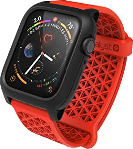 Designed for Apple Watch Series SE, Series 6/5 and 4 44mm, Buckle Edition, Drop Proof 9.9ft, Sport Band, Breathable, Rugged, Drop Proof Designed for Apple Watch Case - Flame Red