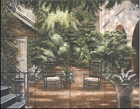 Courtyard new orleans i per betsy brown piastrelle a parete per
