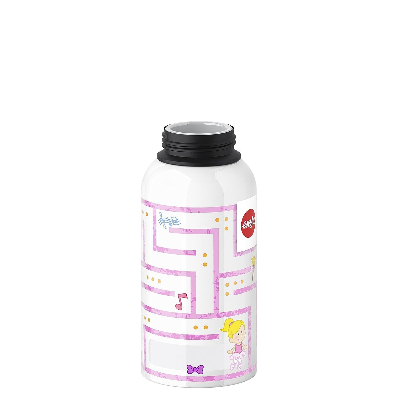 Aluminio Blanco y Rosa Emsa Botella para ni/ños