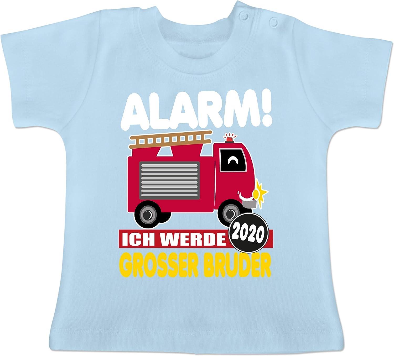 Geschwisterliebe Baby Baby T-Shirt Kurzarm Gro/ßer Bruder 2020 Feuerwehrauto