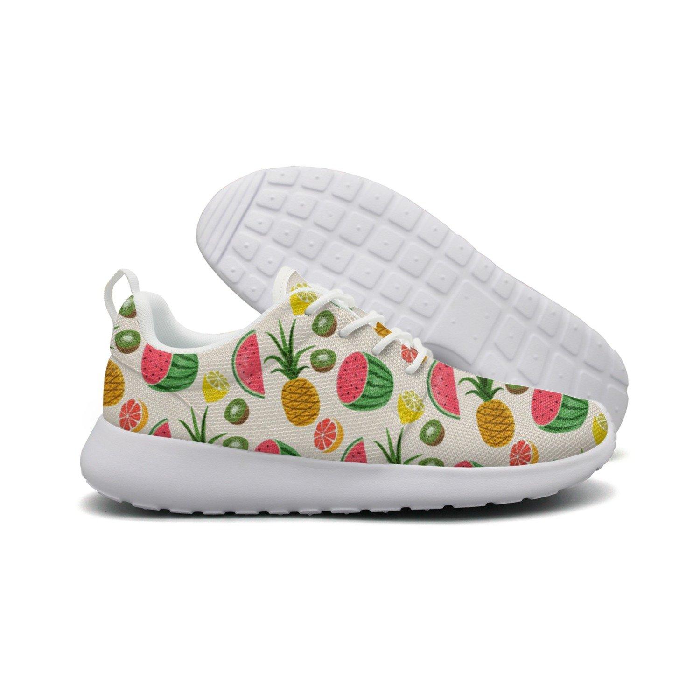 Men's Fruits Pineapple Watermelon Kiwi Running Shoes Fashion Sneakers Walking Shoes by HDIAOnaAO