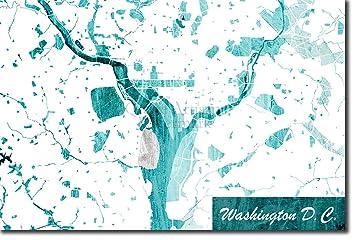 Washington Dc Karte.Tpck Washington D C Usa Ursprüngliches Karten Design Blue Stroke