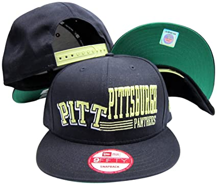 100f2372 Image Unavailable. Image not available for. Color: New Era Pittsburgh  Panthers Navy Snapback Adjustable Plastic Snap ...