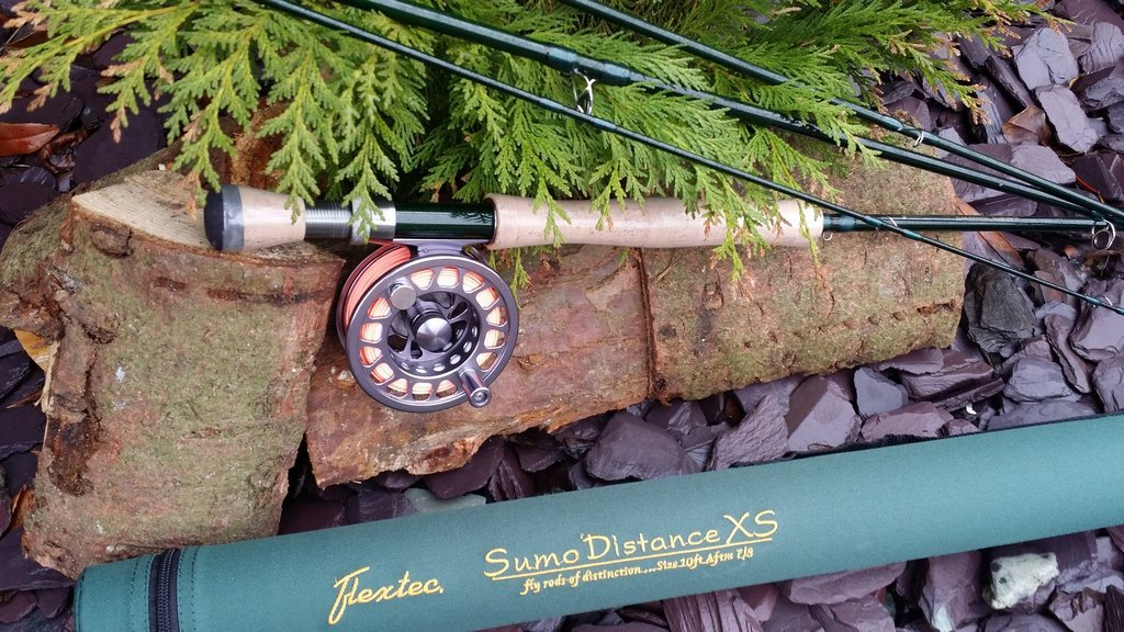 Flextec Graphite Carbon Fibre Sumo XS Fly Rod for Trout Reservoir Lake River Stream Fly Rod 4 piece Fly Fishing Trout Rod, Sea Trout, Salmon Grilse fishing Rod 9ft and 10ft in sizes 5/6, 6/7, 7/8 TD-SLXS-9456