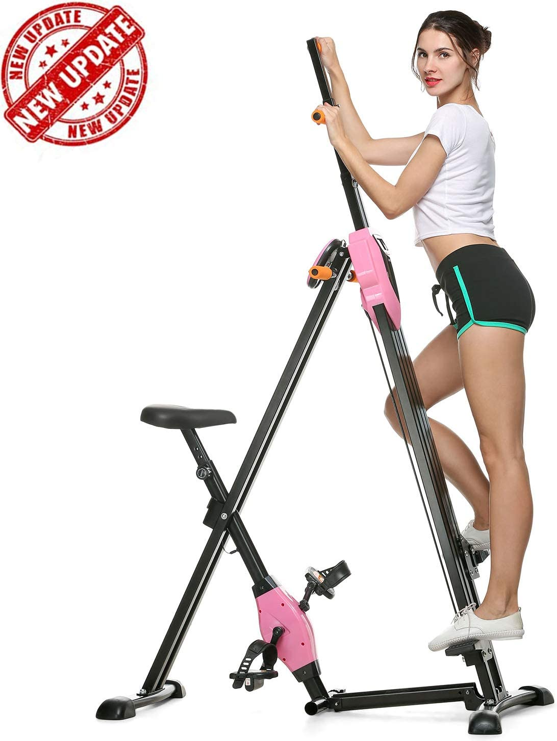 Total Body Workout Vertical Climber Machine,Training Hip Grips Legs Arms Abs Calf Mauccau Folding Exercise Step Machine /& Indoor Vertical Climber Home Gym