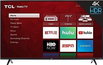 Amazon Com Tcl 50s425 50 Inch 4k Smart Led Roku Tv 2019 Electronics