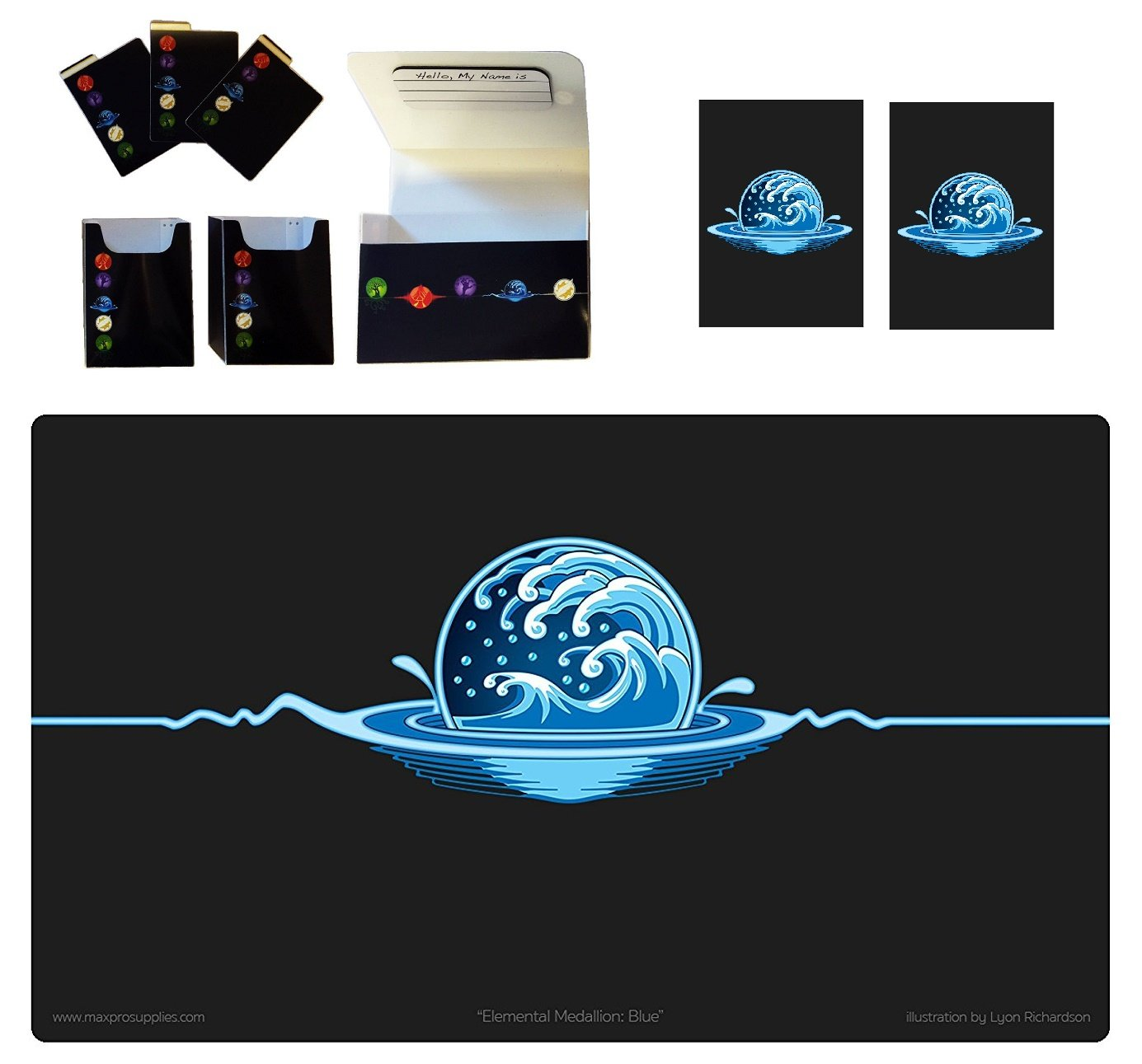 Amazon 1 iconic elemental double deck box plus blue water amazon 1 iconic elemental double deck box plus blue water symbol playmat and 100 double matte sleeves fits mtg mana force of will pokemon cards by biocorpaavc