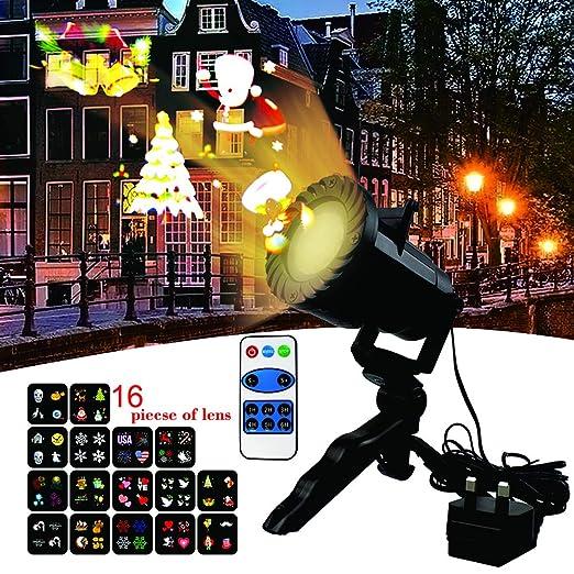 LED Lámpara de Proyección de Navidad,luces de proyector con Diapositivas Iluminación Impermeable Dinámica Proyector Led para Navidad, Cumpleaños, ...