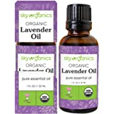 Lavender Essential Oil by Sky Organics (1 oz.) 100% Pure Steam-Distilled Lavender Essential Oil Natural Lavender Oil for Arom
