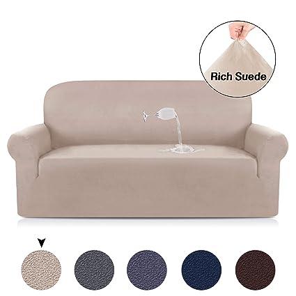 Amazon.com: Velvet Plush Sofa Slipcovers for 3 Seater Sofa Cover ...