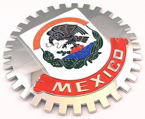 Amazon.com: Emblema de México para parrilla de auto ...