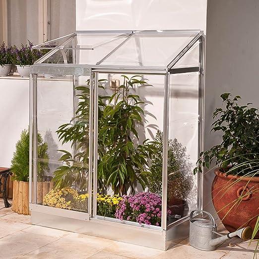 Keter 12-Serre 24 - Invernadero de jardín de policarbonato Transparente (129 x 68 x 165 cm): Amazon.es: Jardín