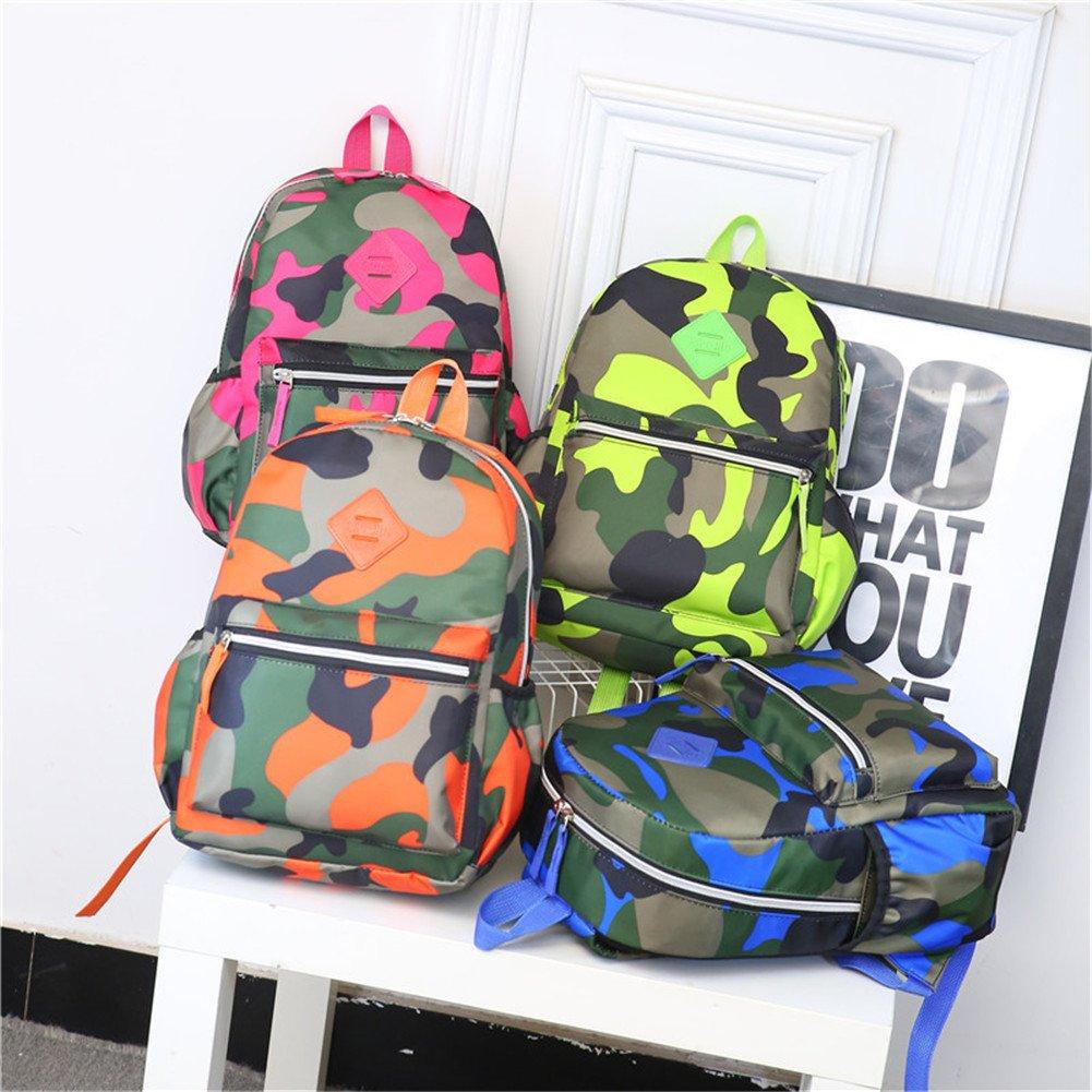TeMan Kids Backpack Kindergarten Cartoon Schoolbag (Green Camo) by TeMan (Image #6)