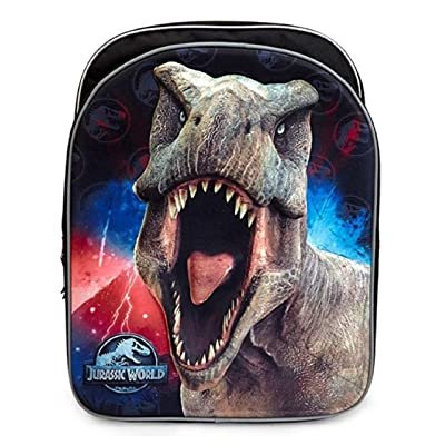 "Jurassic World Backpack for Boys Kids ~ Deluxe 3D 16"" Jurassic Park Backpack (Jurassic World School Supplies) 
