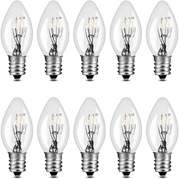 15 Watts C7 Replacement Light Bulbs For Scentsy Plug In Warmers And Wax Diffusers 15w 130 Volt Candelabra E12 Base Long Lasting 1 500 Hours Pack Of 10 Amazon Com