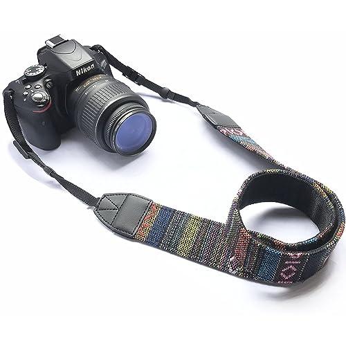 Camera Neck Shoulder Belt Strap by House of Quirk for All DSLR Camera - Black