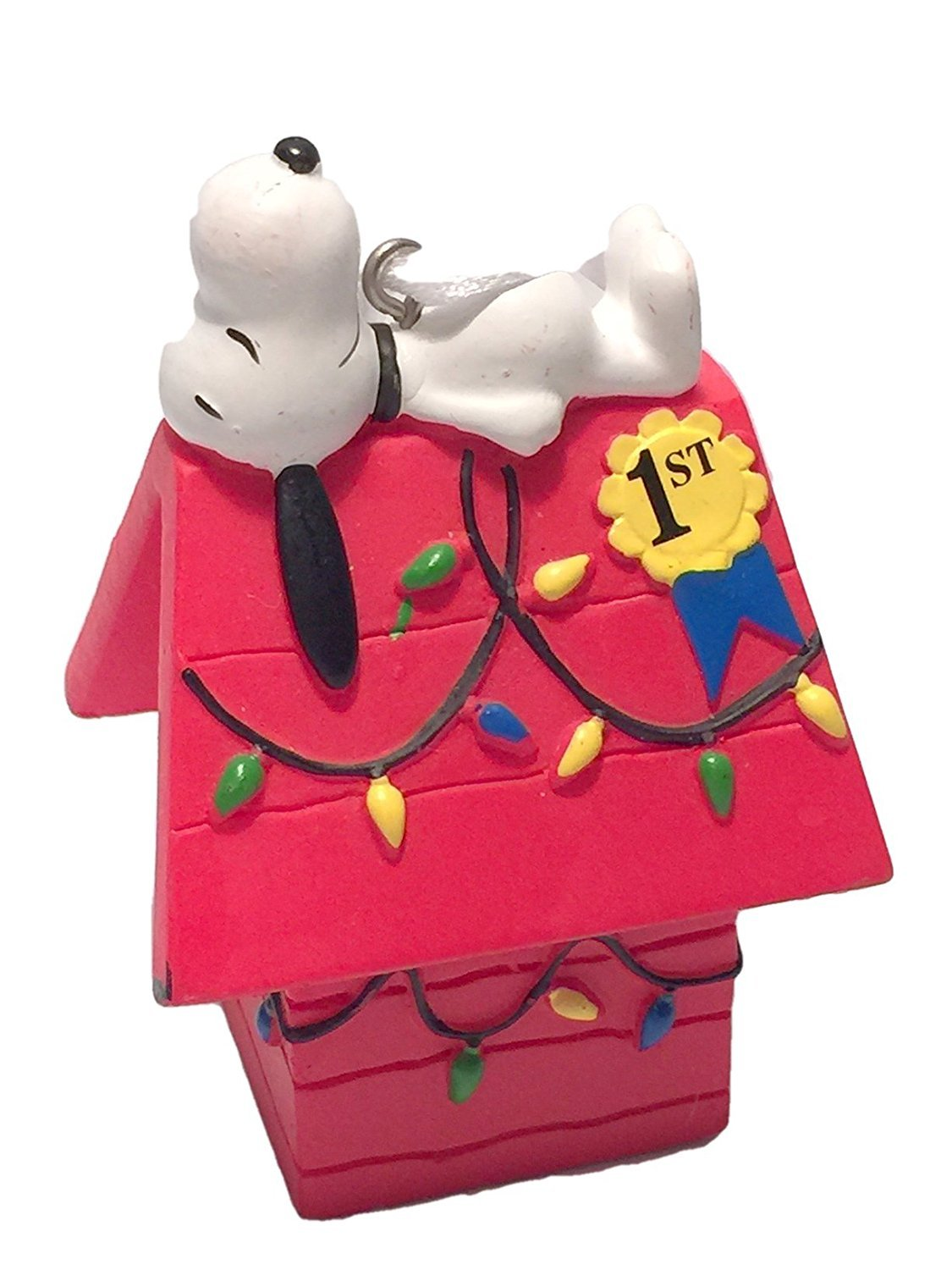 Amazoncom Hallmark Peanuts Snoopy on Doghouse Christmas Ornament