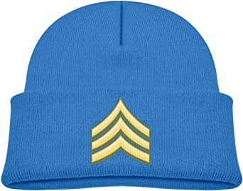 ADGoods Kids Children US Army Sergeant E-5 Beanie Hat Knitted Beanie Knit Beanie For Boys Girls Gorra de béisbol para niños